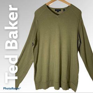 Ted Baker silk cashmere v-neck sweater XL